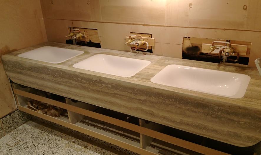 Marble Top Bathroom Vanity