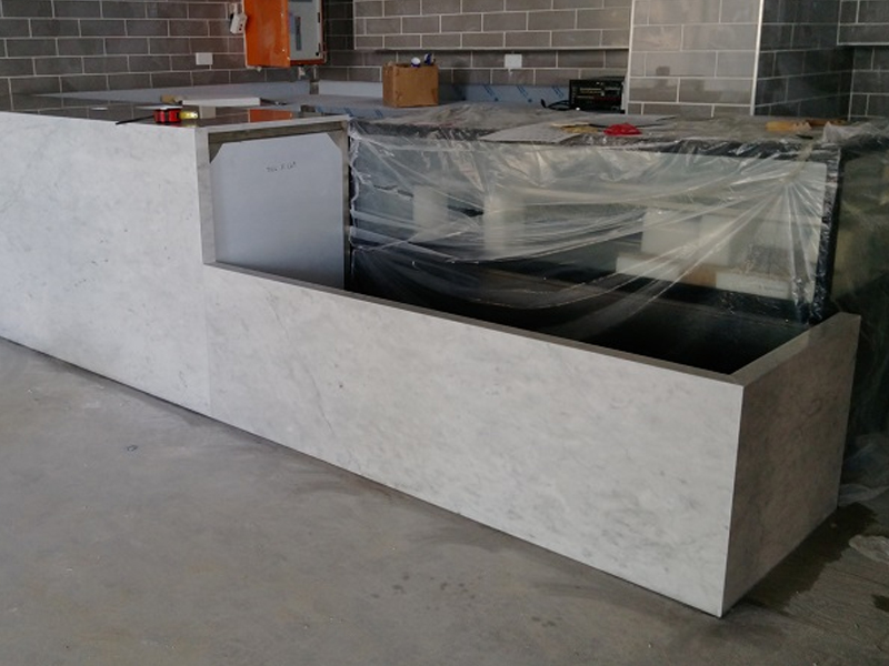 White Marble Splashback