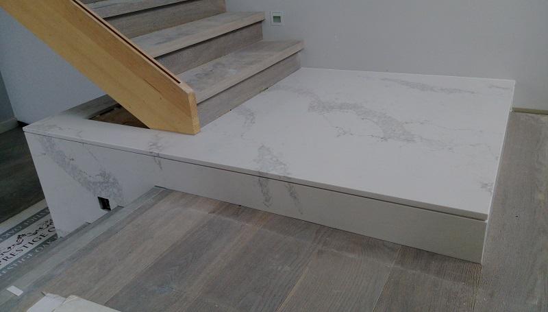 White Staircase Marble